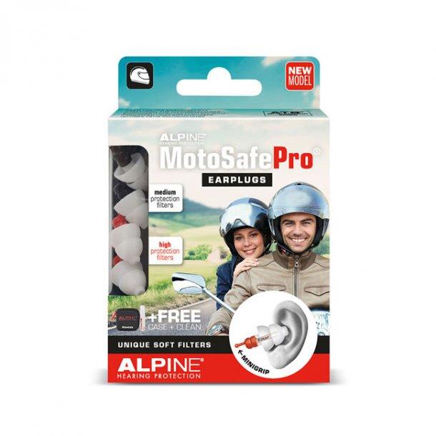 Alpine Motosafe PRO bløde ørepropper medium/høj beskyttelse