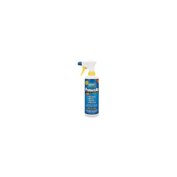 Protect All - Spray 473 ml - med Carnuba voks - perfekt til f.eks. Mustang MC sæder