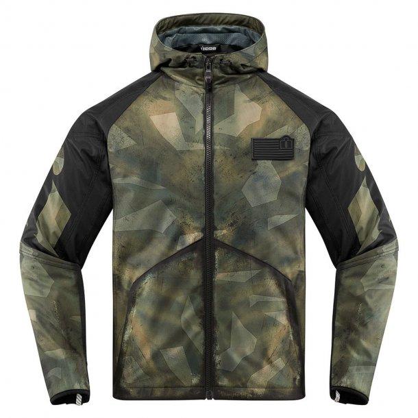 Icon Battlescar, mc jakke, med beskyttelse