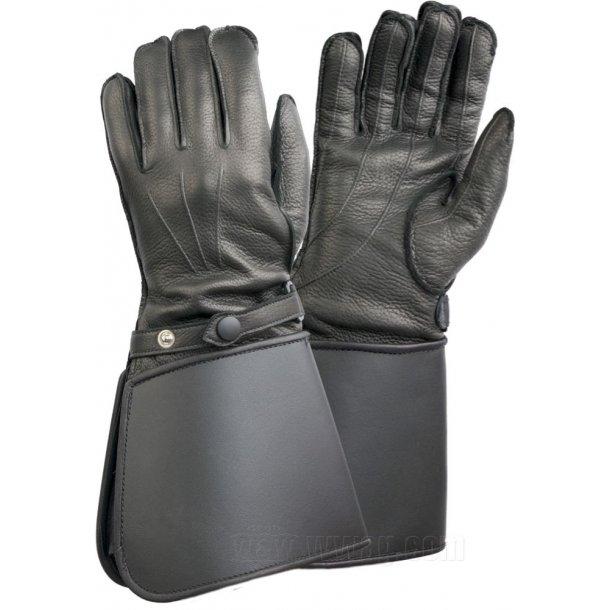 Raber Gaunlet, klassisk læder MC handske med lange skafter