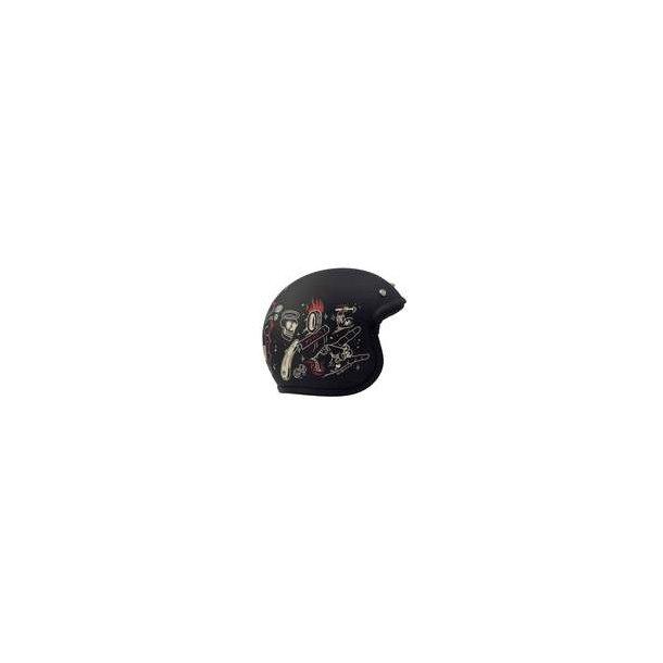 DMD Vintage Born Free Old School Openface hjelm med EU godkendelse cba2bf8058cd4