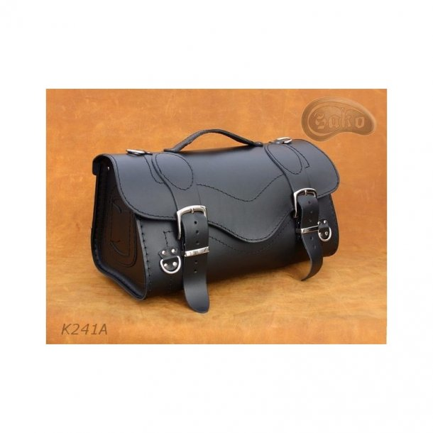 CustomCruiser taske, læder, til bagagebærer, universal