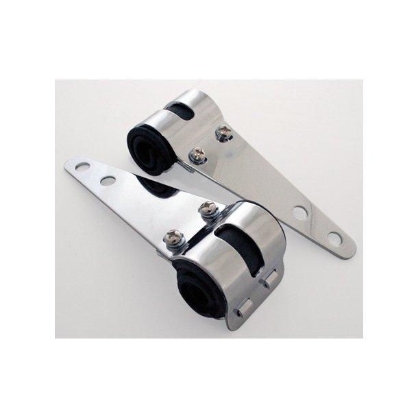 Lygteholdere i chrom 30-38mm