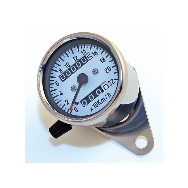 Speedometer, Rustfrit stål, hvid skive