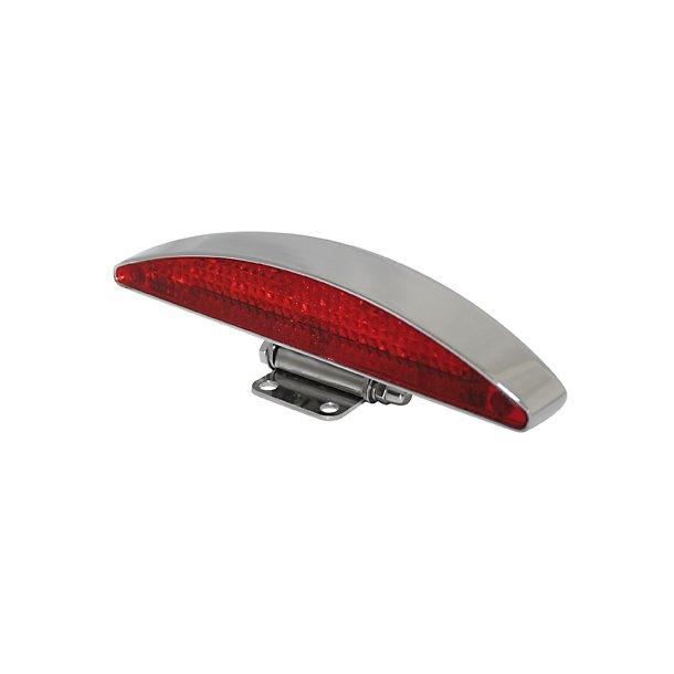 Highsider INTERSTATE, LED baglygte, rødt glas, sort eller alu
